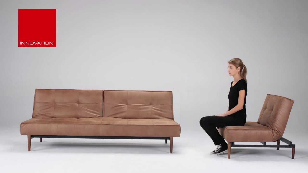 Splitback Sofa Bed   Wood Leg   Innovation Living