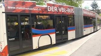 Mitfahrt VBL RBus Trolleybus Linie 1 Maihof-Luzern Bahnhof-Kriens-Obernau Hess lighTram #238