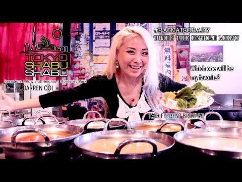TOKYO SHABU SHABU ENTIRE MENU  | MUKBANG EATING SHOW ft. Darren Ooi | RainaisCrazy
