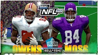 "NFL 2K2 in 4K!!! OWENS vs MOSS ""Hall of Fame Showdown"" 2018 Gameplay!!!"