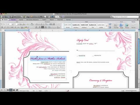 How To Customize An Invitation Template In Microsoft Word