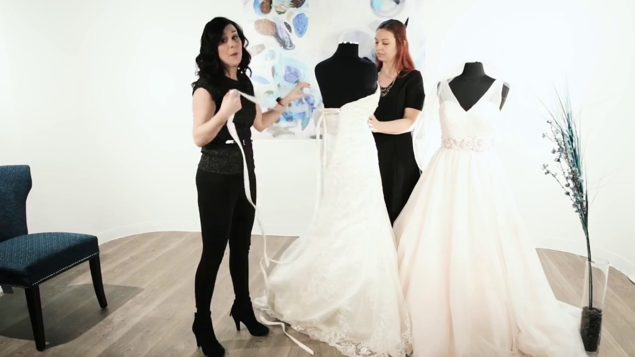How to Lace Up a Corset Wedding Dress - YouTube