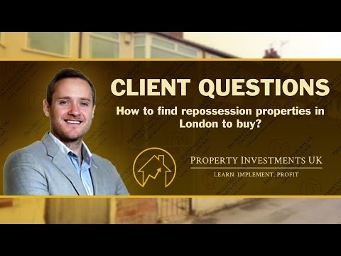 The Trick To Finding Repossessed Property To Buy in London