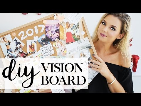 DIY Vision & Inspiration Board - Achieve Your Goals 2017