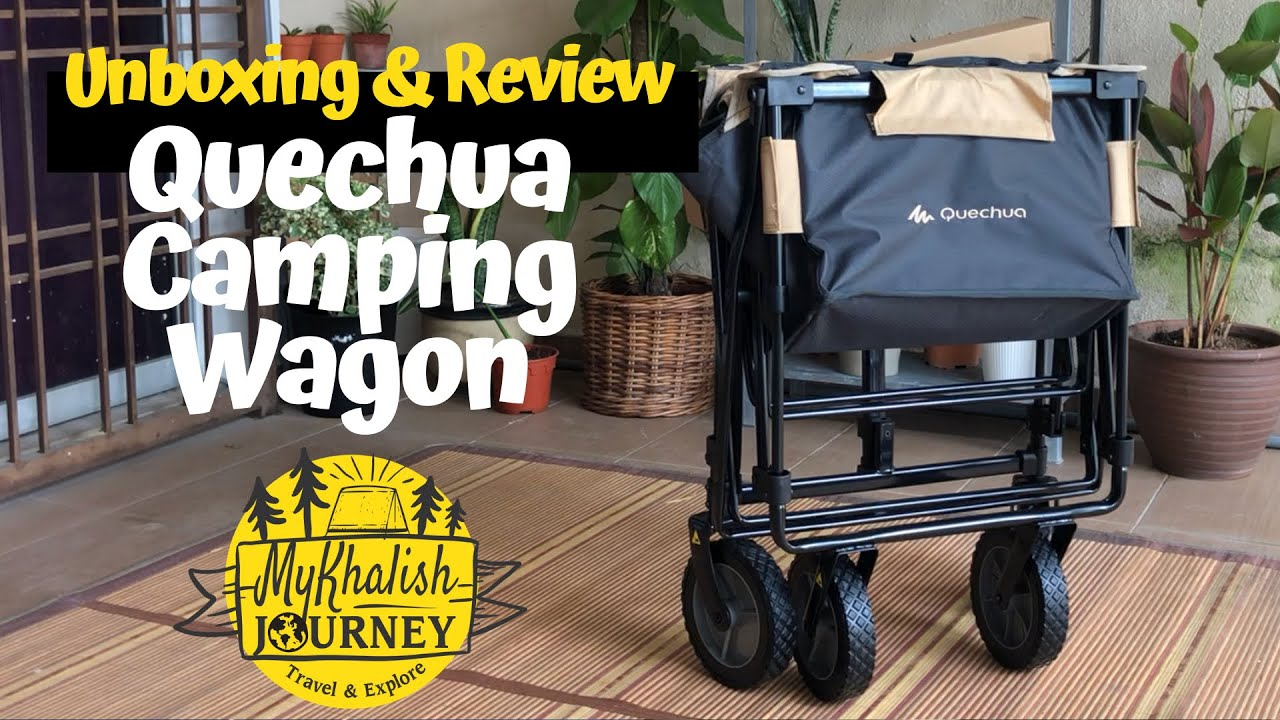 Unboxing Review Decathlon Quechua Camping Trolley Wagon Youtube