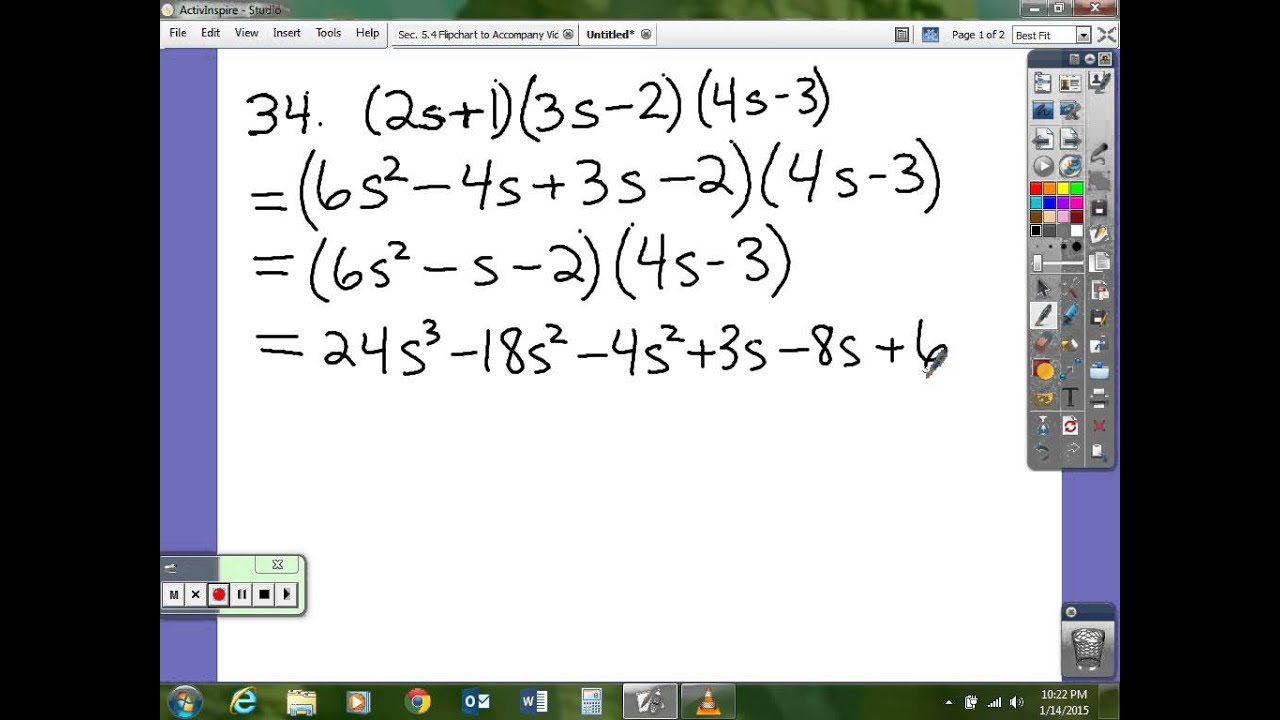 Worksheet 5 3 Sample Problems Advanced Algebra