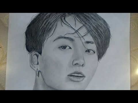 drawing-jungkook-with-(hb)-pencil