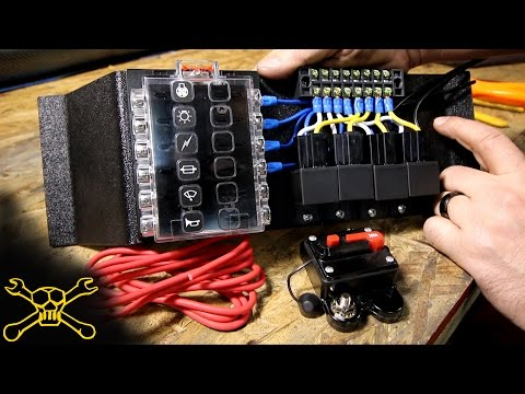 [SCHEMATICS_4FR]  How To Make A Power Relay / Fuse Block | Automotive Wiring - YouTube | 12 Volt Fuse Box Enclosed |  | YouTube
