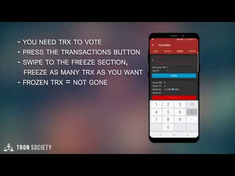 How to create a wallet and vote for SR - Tron Wallet for Android