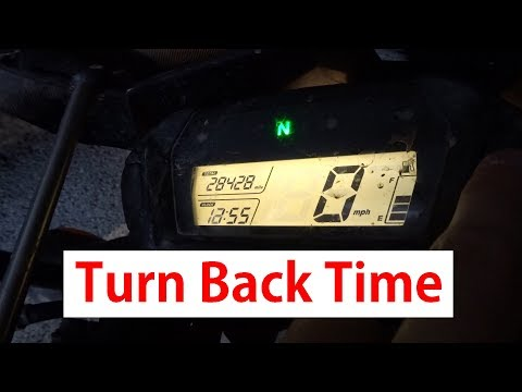How To Change The Clock on A Honda CRF250l