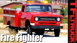 1970 International Harvester 1300D 4x4 Classic Brush Fire Truck Revealed