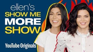 Kourtney Kardashian and Kendall Jenner Answer Ellen's Burning Questions