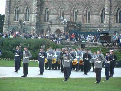 German Army Band & Drill Team ( Fortissimo ) on Parliament Hill in Ottawa on 20120811 2/6