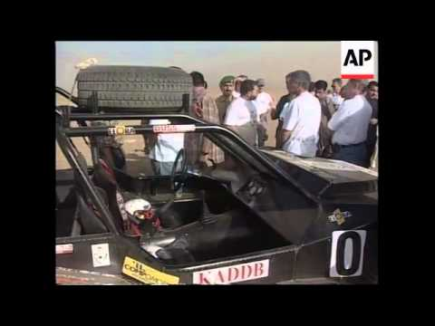 JORDAN: KING ABDULLAH II TESTS RALLY CAR