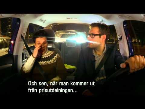 Niklas drives Juliette Binoche to the airport