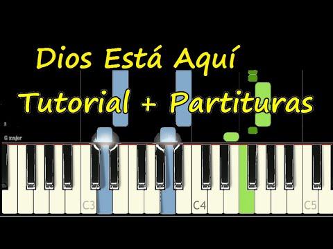 DIOS ESTA AQUI Piano Tutorial Cover Facil + Partitura PDF Sheet Music Easy Midi thumbnail