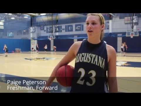 Freshman Paige Peterson talks about upcoming road trip this weekend for Augustana women's basketball