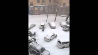 Хабаровск, снегопад