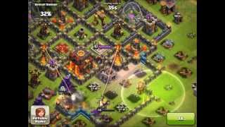 Clash of Clans Level 40 Archer Queen Freezing!!!!