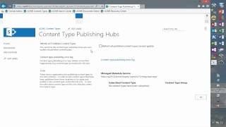 Document IDs and content type syndication in SharePoint 2013