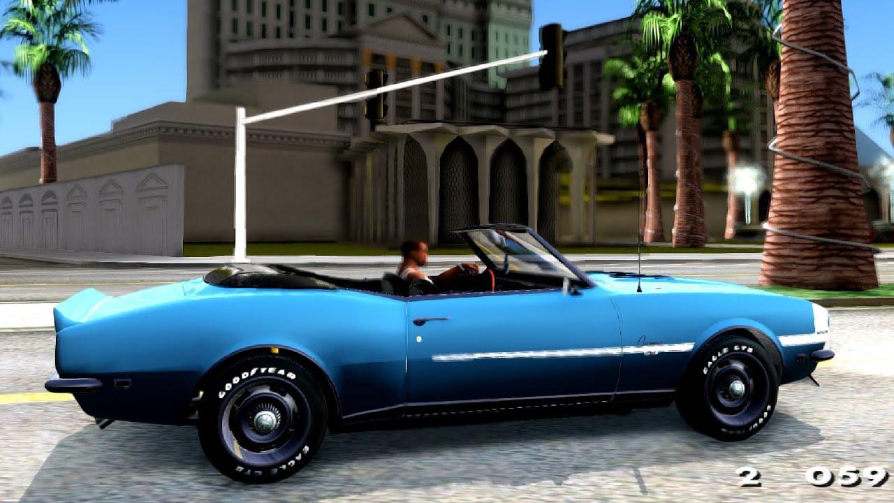 1968 Chevrolet Camaro Rs Ss 396 Convertible Gta San Andreas Youtube