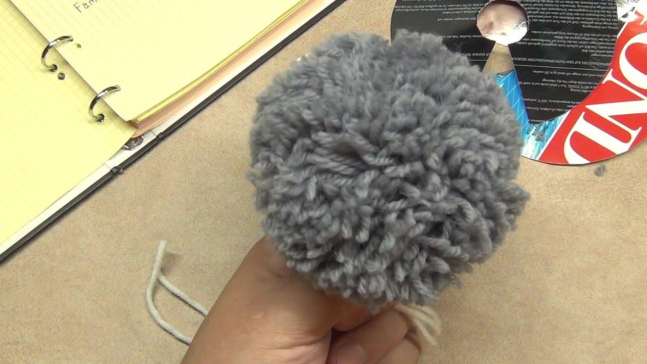 Большой помпон для шапки своими руками фото 983
