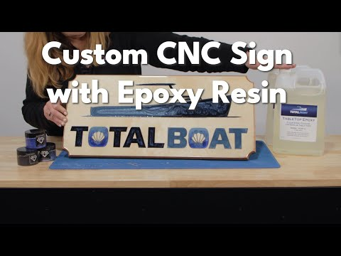 Custom CNC Sign  with Epoxy Resin