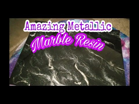 How to DIY countertops with Black and Silver Marble (RESIN)