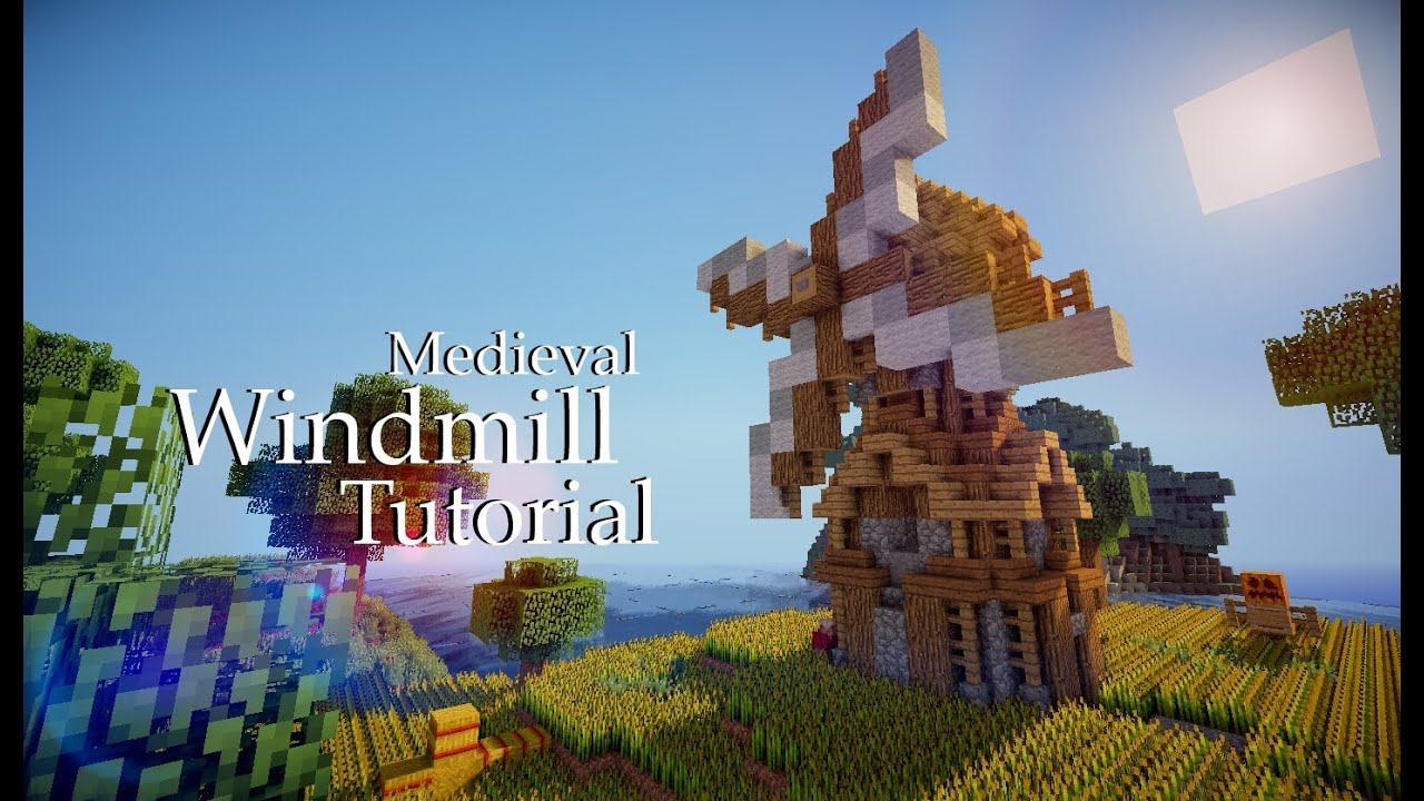 Minecraft Medieval Windmill Tutorial Design 3 YouTube