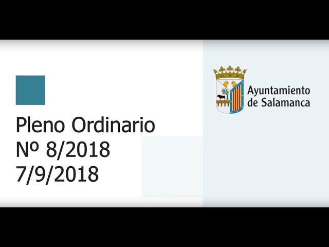 Pleno Municipal. Sesión Ordinaria Nº 8/2018