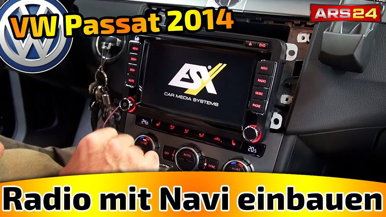 navi einbauen im vw passat in vw passat bj 2014 tutorial. Black Bedroom Furniture Sets. Home Design Ideas