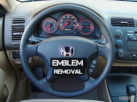 Removing Steering Wheel Honda Emblem 2004 Civic Es1 Es2 Em2 Ep3