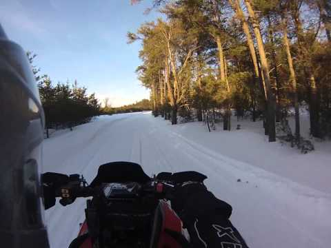 Snowmobiling From Lovells To Gaylord Michigan