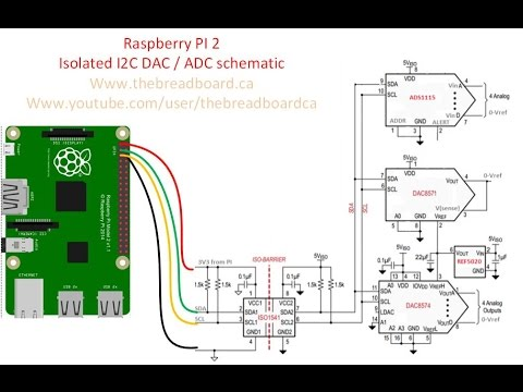 raspberry pi 3 model b wiring diagram holden vectra stereo 2 - fun with i2c dacs and adc's youtube