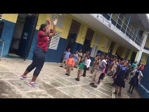 Anya Hartley Jamaica moves Fairfield Primary School