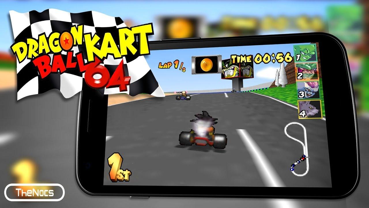 Dragon Ball Kart 64 para Android | Mario Kart para Android | MK64 HACKS | Thenocs - YouTube