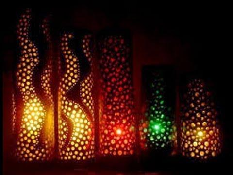 Como hacer lamparas con ca os de pvc 5 youtube - Como hacer lamparas ...
