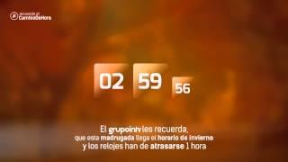 EL GRUPO INTV TE RECUERDA EL CAMBIO DE HORA - HORARIO DE INVIERNO (OCTUBRE 2014)