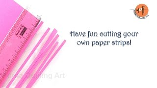 How to cut quilling paper