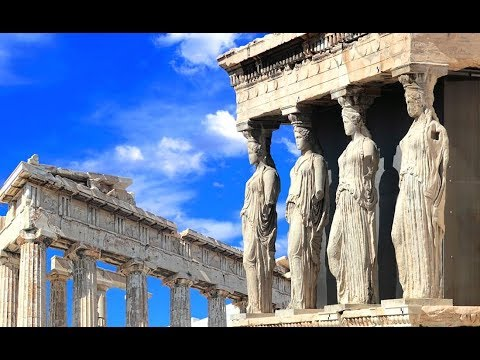 Афинский акрополь. Парфенон -великолепный храм древнегреческой цивилизации