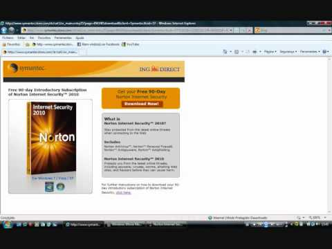 Norton Internet Security 2010 (3 months trial 100% free)