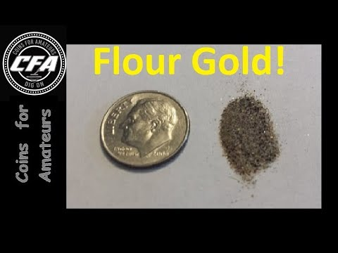 Separating black sand from Fine Flour Gold | Learning to prospect | Gold panning
