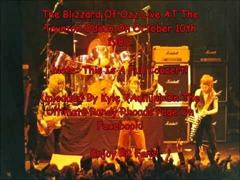 The Blizzard Of Ozz Live With Randy Rhoads At The Taunton Odeon, England (Full Concert)