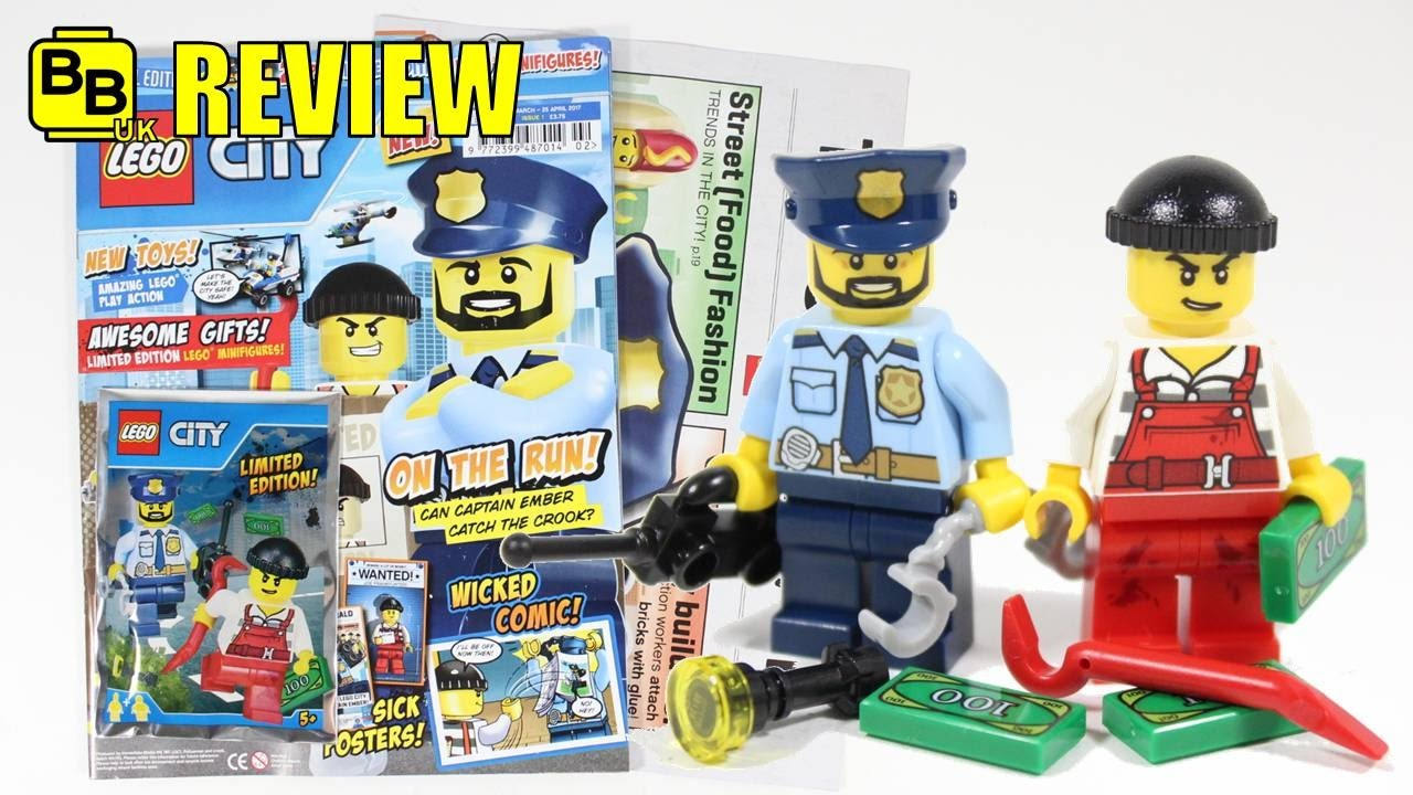 new 2017 lego city magazine issue 1 minifigures review. Black Bedroom Furniture Sets. Home Design Ideas