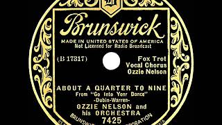 1935 HITS ARCHIVE: About A Quarter To Nine - Ozzie Nelson (Ozzie Nelson, vocal)