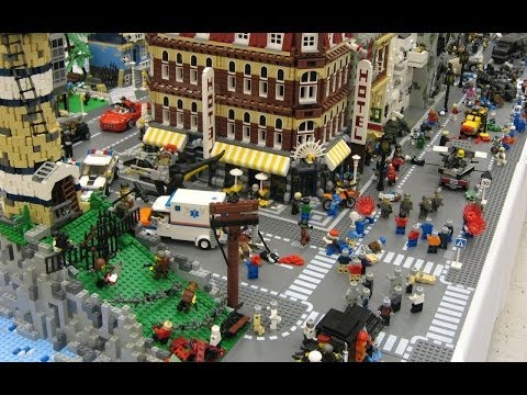 Lego city (Cars and  House in the big city) (ville en LEGO) Travel Video