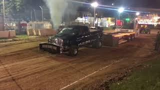 Smoking Black Ram diesel pulling truck