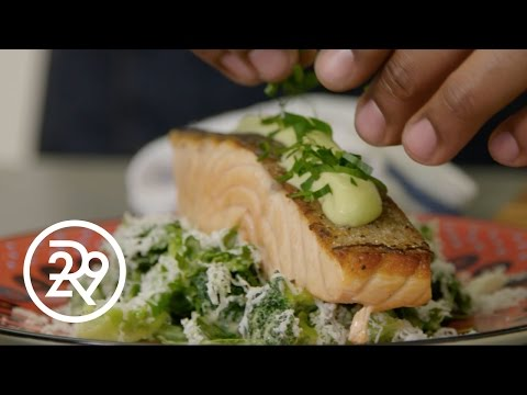 Chef Roble's Quick And Healthy Salmon Dinner | #GimmeFive | Refinery29