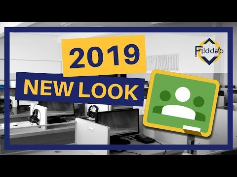 The NEW 2019 Layout of Google Classroom HD 1080