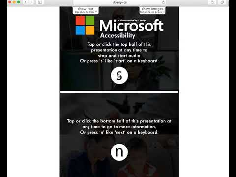 30 seconds to a new perspective: Microsoft Online Accessibility